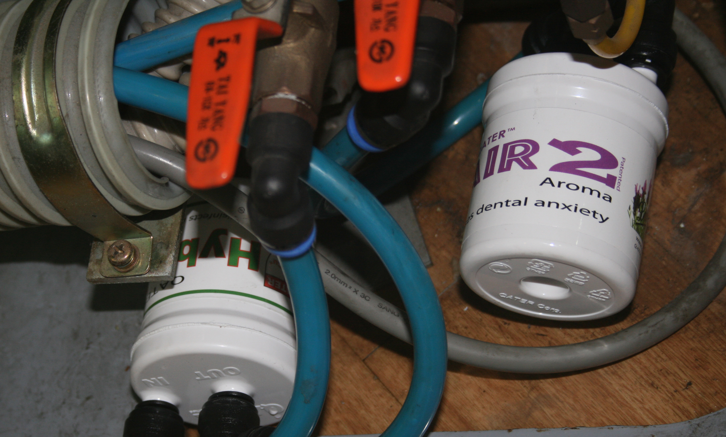 QATER Air 2 Aroma - Lavender installed in junction box